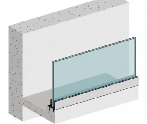 Garde-corps verre aluminium DELOS 1-S
