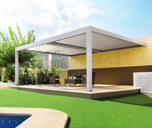 Pergola bioclimatique CYCLADES 150 Duplex (Adossée)