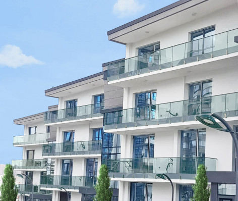 Garde-corps terrasse verre aluminium HELIOS