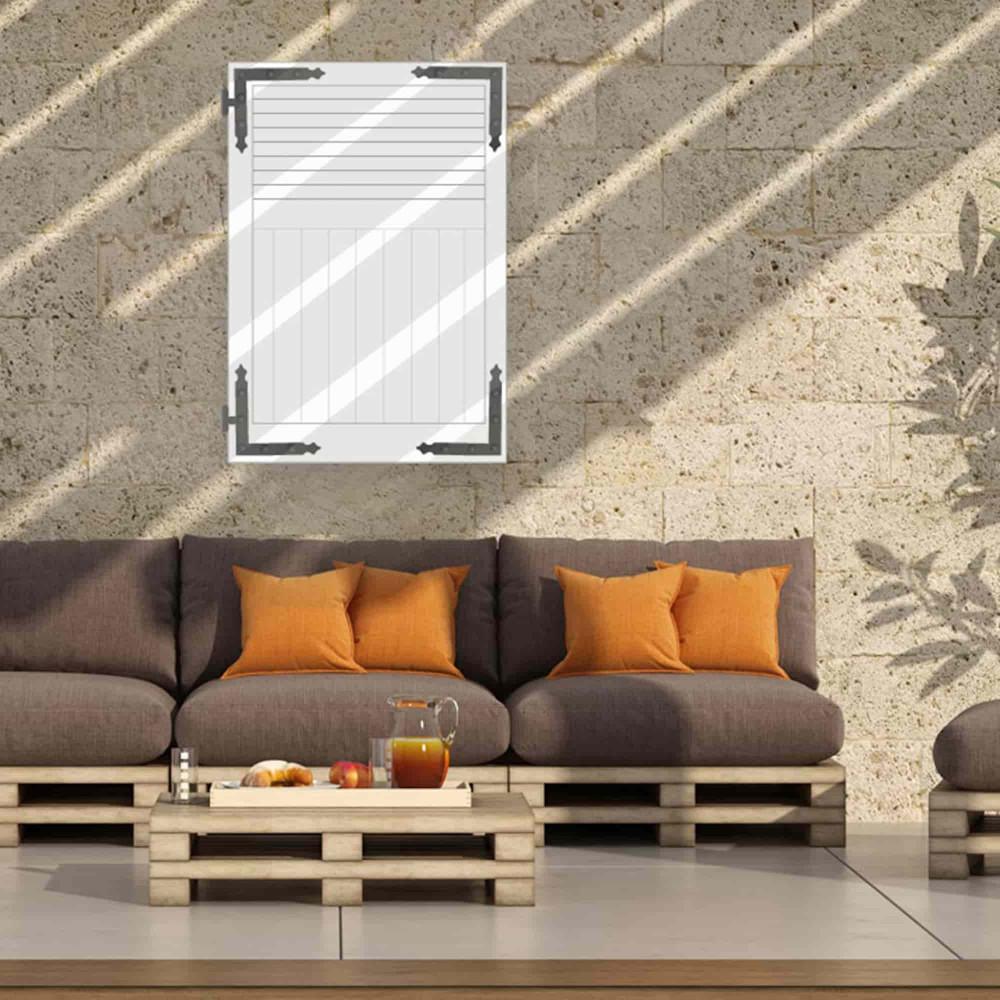 Volet battant aluminium persienné mixte GEMINI (fenêtre)