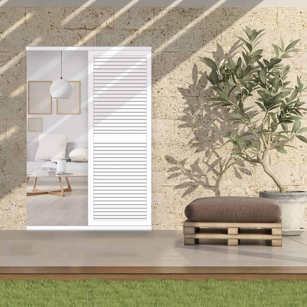 Volet coulissant aluminium faux persienné ECHO (porte-fenêtre)
