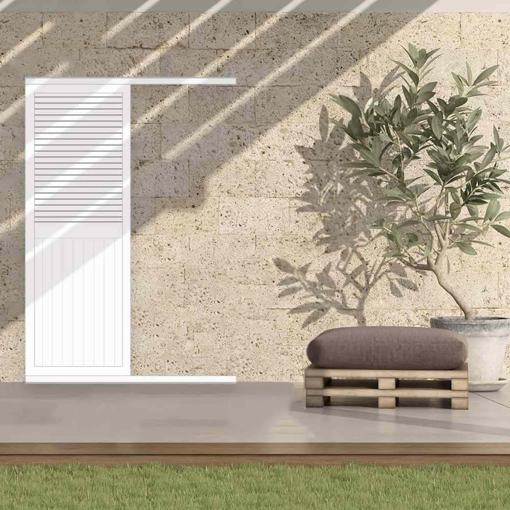 Volet coulissant aluminium faux persienné mixte NILOS (porte-fenêtre)