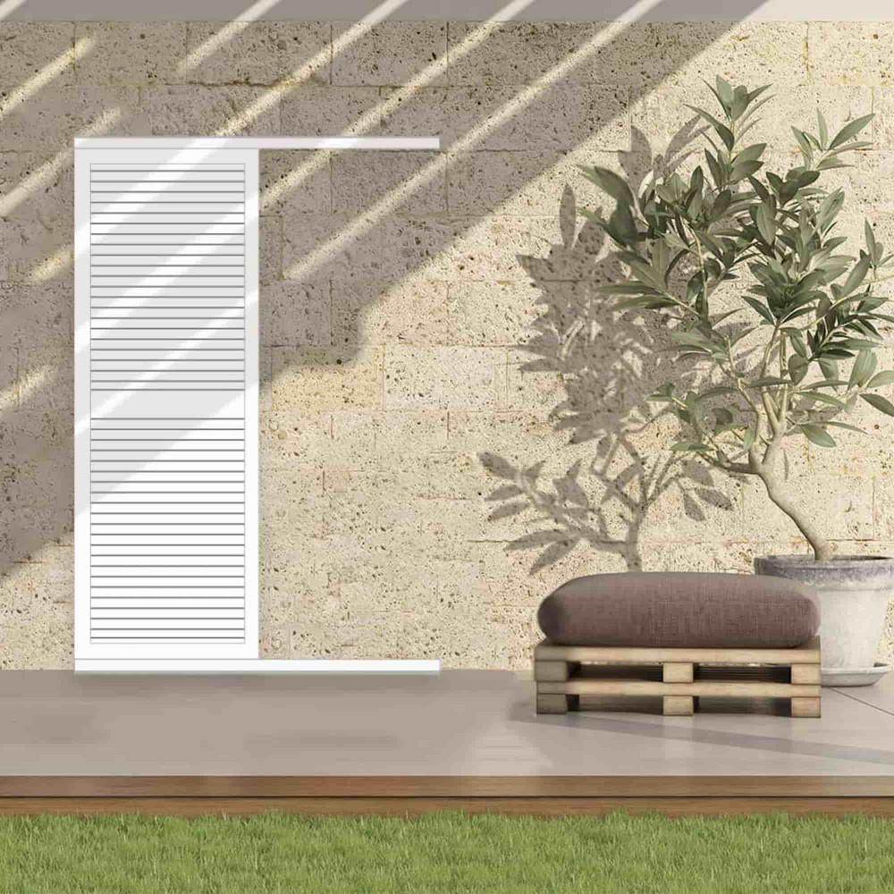 Volet coulissant aluminium persienné EROS (porte-fenêtre)