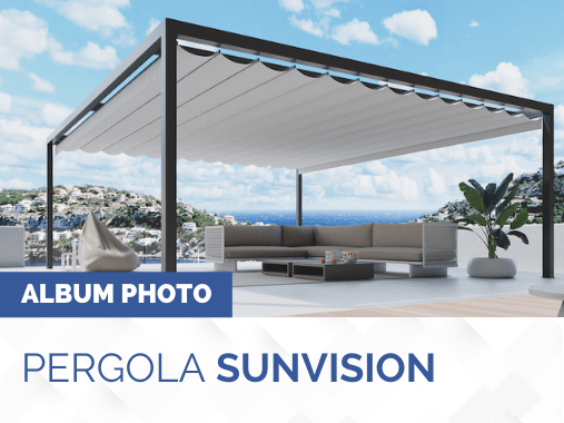 Album photo pergola toile rétractable SUNVISION