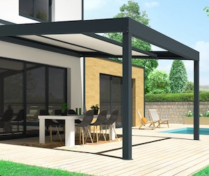 Pergola polycarbonate rétractable FUTUR