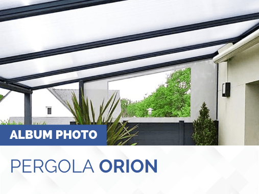 Album photo pergola toit polycarbonate ORION