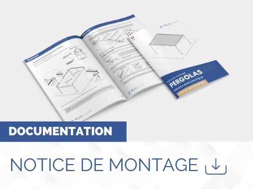 notice de montage pergola bioclimatique interstellar adossée