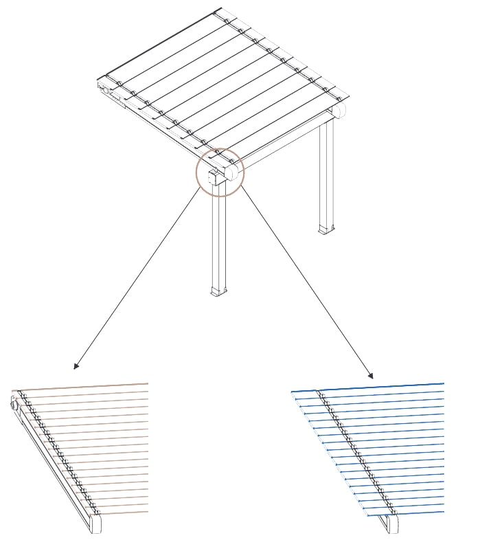Croquis pergola bioclimatique Eclipse Evolution