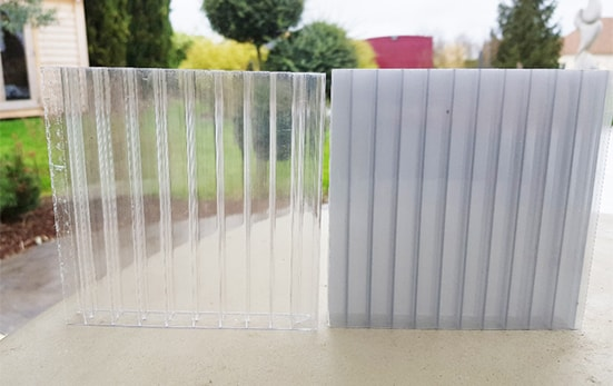 polycarbonate transparent et anthracite
