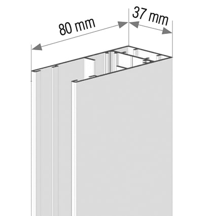 Dimensions des coulisses verticales store vertical HYDRA 115