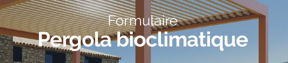 Bannière web formulaire pergola bioclimatique demande de devis
