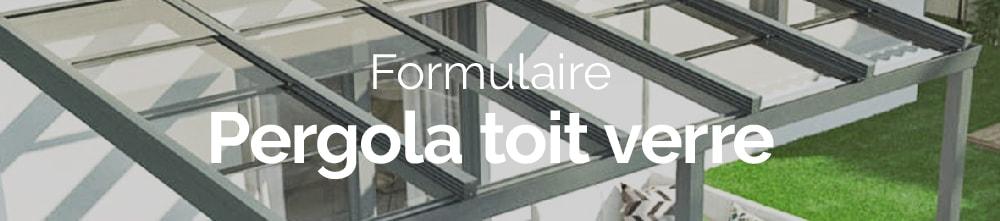 Bannière web demande de devis pergola toit verre
